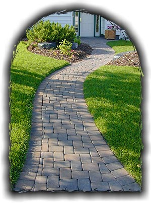 Pathway in Paving Stones
